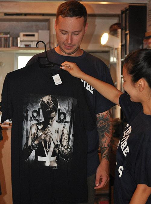 ジャスティン・ビーバーのTシャツ